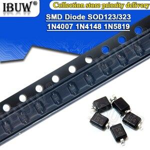 100pcs SMD diode 0805 SOD-123 1N5819 1N4007 1N4148 SOD123 SOD-323 1206 1N4148WS 1N5819WS B5819WS SOD323 Schottky diodes