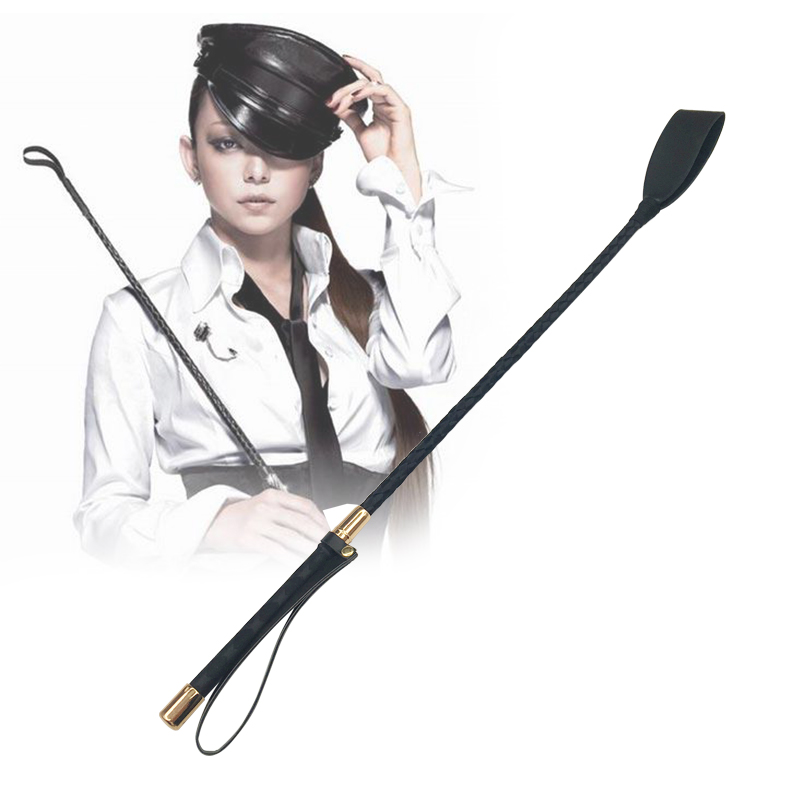 Bondage Boutique Slim Leather Riding Crop Horse Whip Pony Spanking Knout BDSM Lash Fetish Flogger Sex Product For Couples Women