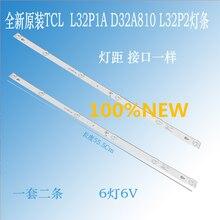 4 قطعة/الوحدة 100% جديد 32 بوصة تلفاز LCD شريط إضاءة خلفي ل TCL L32P1A L32F3301B 32D2900 32HR330M06A8V1 4C LB3206 6 المصابيح كل مصباح 6v