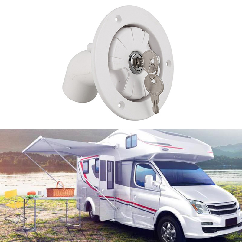 Fresh Water Inlet Lock Up With 2 Keys For Motorhome Camper Boat RV New Plastic Trailer Tank Filter Accessories A