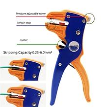 HS 700D otomatik tel striptizci sıyırma çapı ayarlanabilir otomatik farklı tel çapraz bölümler 0.25 6.0mm2