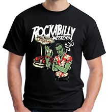 Velocitee Mens Rockabilly Weekend T Shirt Las Vegas Zombies Hot Rod Cotton T-Shirt Fashion T-Shirt Free Shipping Top Tee las vegas top 10 карта