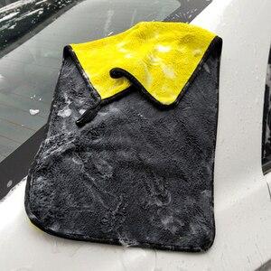 Image 2 - Lot de serviettes microfibres extra douces pour nettoyage de voiture, 3/5 ou 10 pièces, tissu de séchage pour maintenance esthétique, ne raye jamais