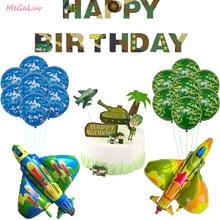 Camuflagem da força aérea tema decoração do exército látex balões lutador aviões folha ballon menino menina soldado festa de aniversário suprimentos