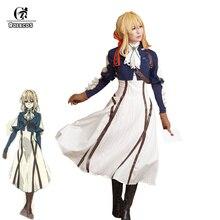 ROLECOS Disfraz de mujer para Cosplay, Cosplay de Violet Evergarden de Anime japonés, Cosplay de Lolita para adulto, conjunto completo
