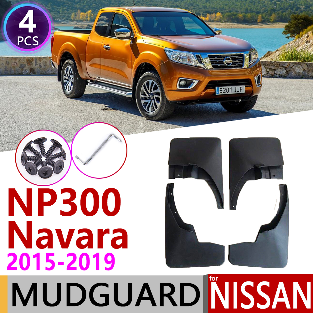 Car Mudflap for Nissan NP300 Navara D23 2015~2019 NP 300 Fender Mud Guard Flap Splash Flaps Mudguards Accessories 2016 2017 2018 Car Stickers     - title=