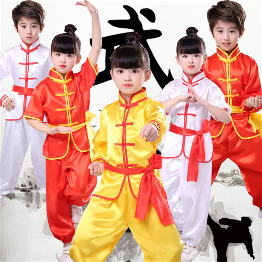 Chinese Kung Fu Traditional Wushu Clothing For Boys Girls Tai Chi Uniform 2020 New Kids China Culture Performance Costumes