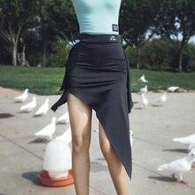 Latin Dance Tango Skirt Cloth Tassel Chacha Samba Practise Irregular-Design Performamnce