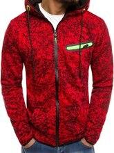 Puimentiua Mens casual sweatshirt 3D printed zipper slim hooded 2019 NEW