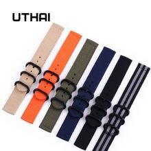 Uthai p13 20mm pulseira de relógio de náilon 20mm pulseira de relógio 24mm acessórios de relógio de alta qualidade 22mm pulseiras de relógio