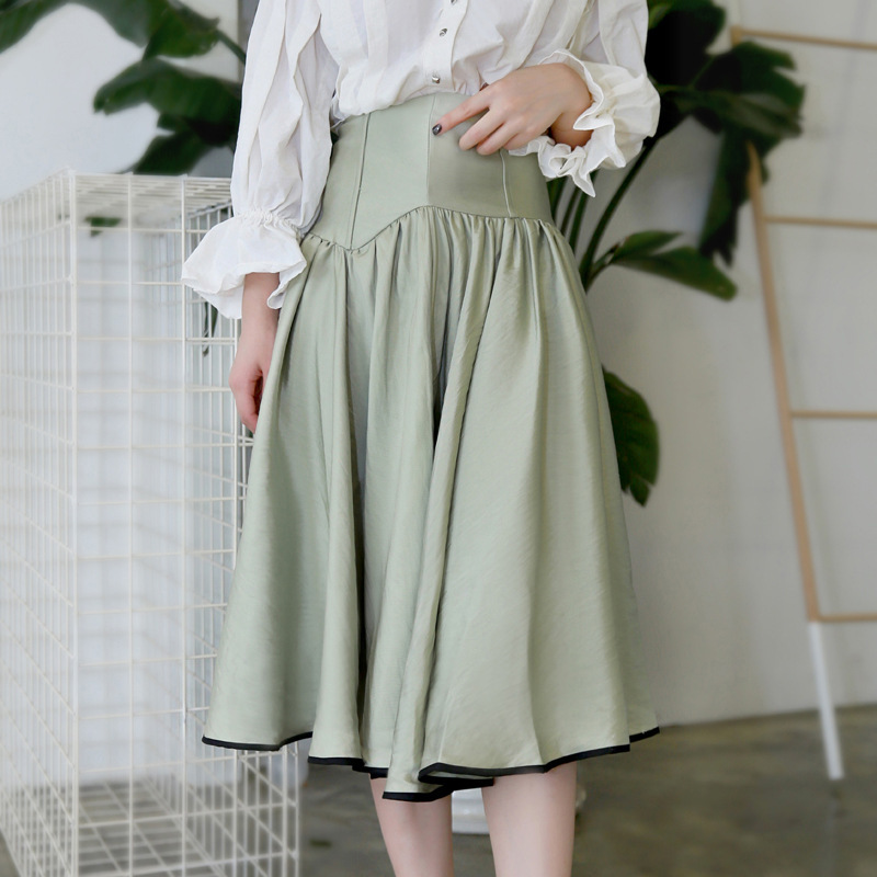 LANMREM 2020 New Spring Fashion Women Clothing High Waist Halfbody Skirts Asymmetrical Specailly Cuted Bottoms WC72106L