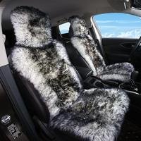 Sheepskin fur Car Seat Covers, Universal Size Australian long Wool Car Seat Cushion for Adult Man Women, 1 Piece Seat