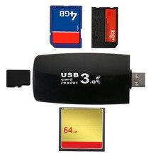 Черный все в 1 Высокоскоростной USB 3,0 флэш-карт памяти и адаптер для карт 5 Гбит/с для ПК ноутбука