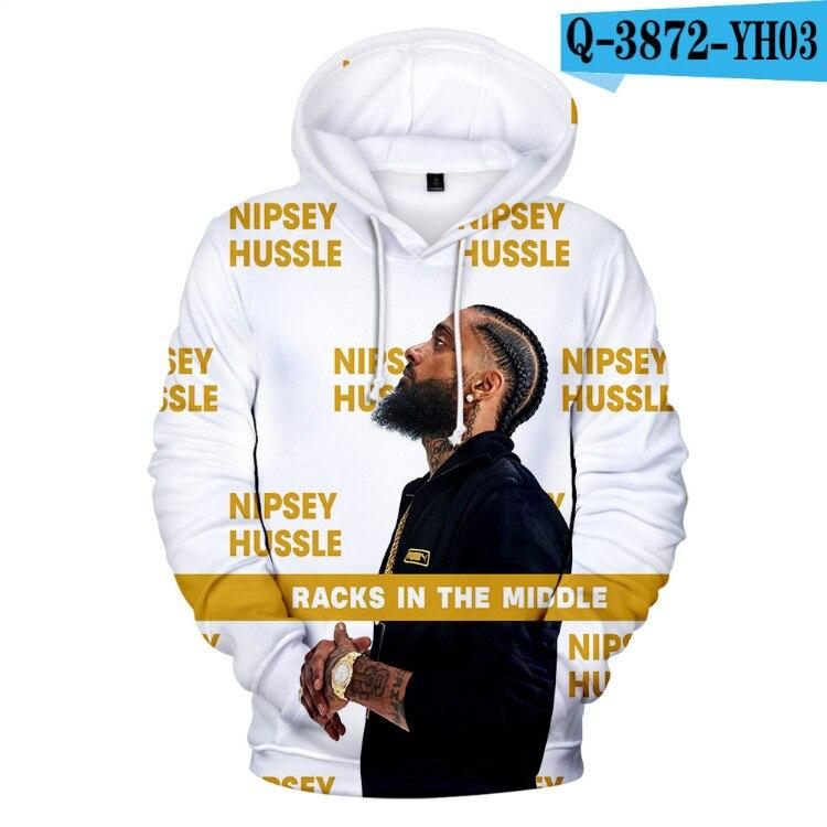 Salute Nipsey Hussle Hip Hop Hoodie Men/Women Fashion Casual Pullover Hooded 3D Print Nipsey Hussle Mens Hoodies Clothes