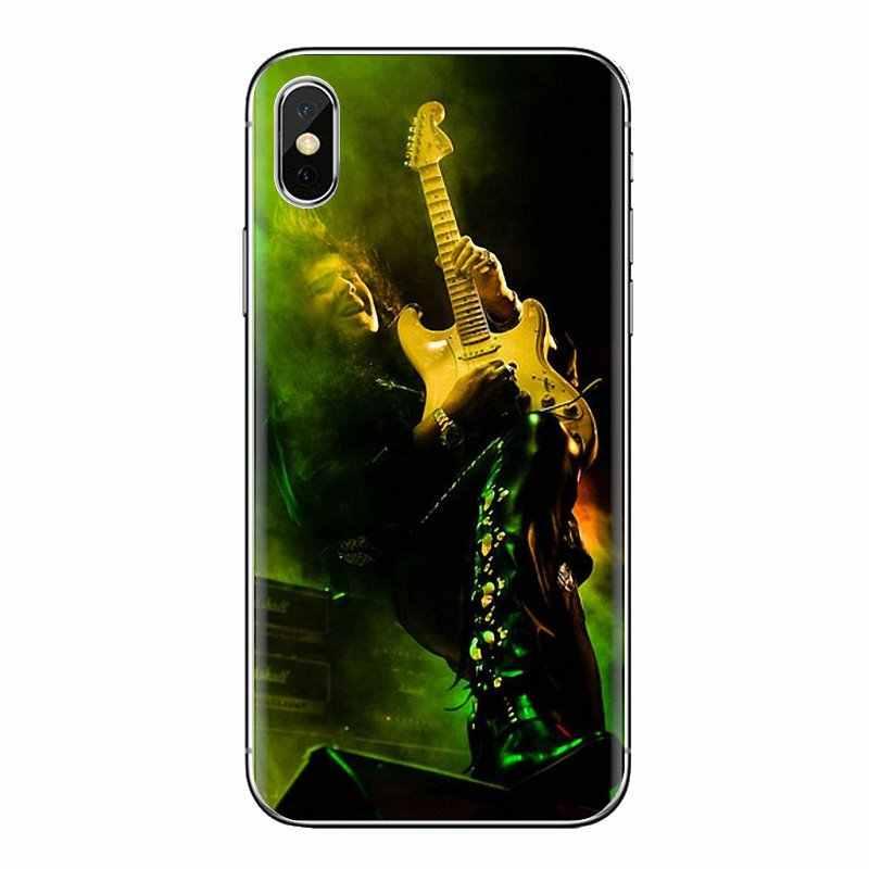 Para Xiaomi rojo mi 4 3 3S Pro mi 3 mi 4 mi 4i mi 4C mi 5 mi 5S mi Max Note 2 3 4 funda de piel transparente suave Yngwie Malmsteen guitarra para hombre