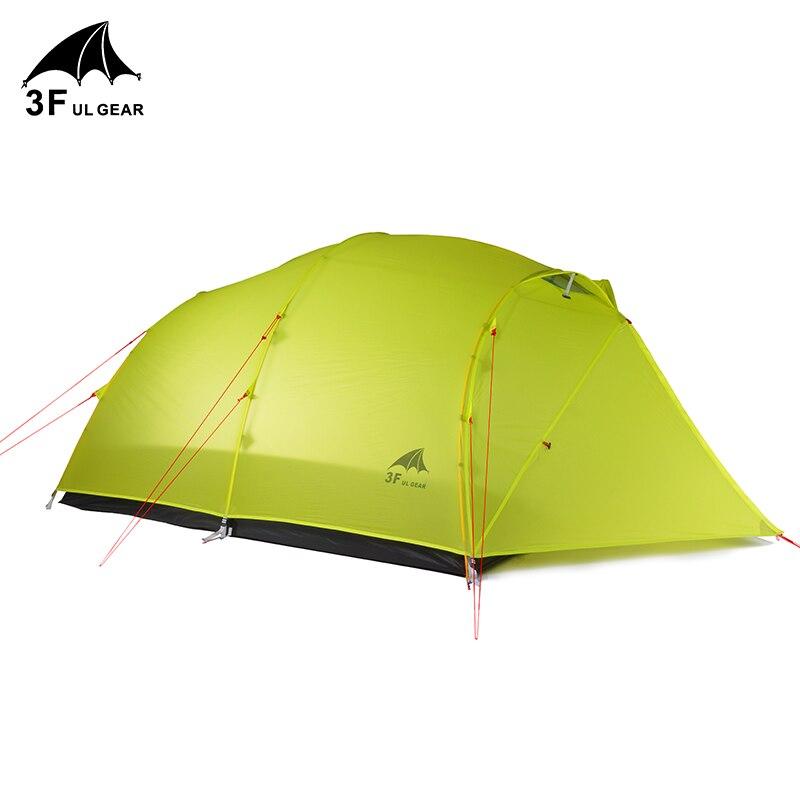 3F UL Getriebe QingKong4 Leichte Camping Zelt 15D Nylon / 210T Taft 3 /4 Saison 4 Männer Vier person Zelt Für Camping Wandern