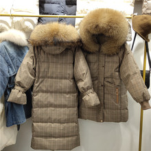 Winter Down Coat With Real Fur Hood Women Puffer Long Female Warm Autumn Feather Jacket For Girl Parka Coats Duck Outerwear недорого