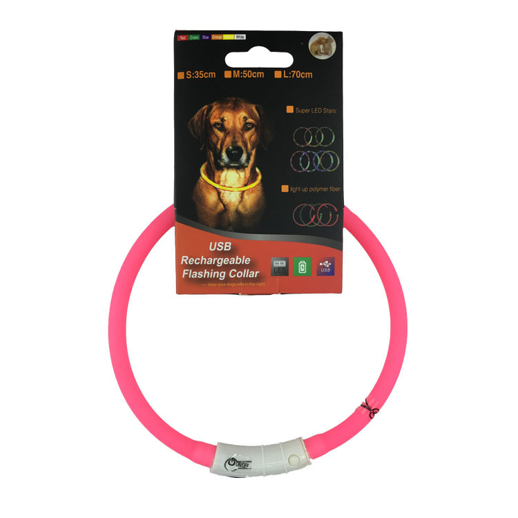 USB Charging LED Luminous Collar Pet Dog Cat Collar Teddy Golden Retriever Medium And Small Dogs Night Light Neck Ring