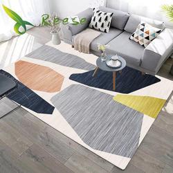 Nouveau tapis de sol en bois géométrique 3D moderne pour salon tapis lavable antidérapant pour salle de bain ou ramper commerciale de prière
