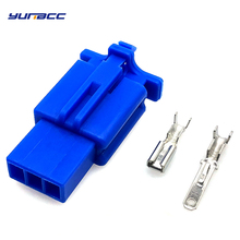 цена на 5 Set 3 Pins 2.8 mm series Male Female Way Waterproof Wire Connector Plug Car Auto Sealed Car Truck Denso Connectors