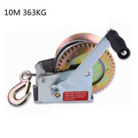 363kg 10m Boat Truck Auto Hand Manual Galvanized Steel Winch Hand Tool Lifting Sling Lifting Tools Accessories