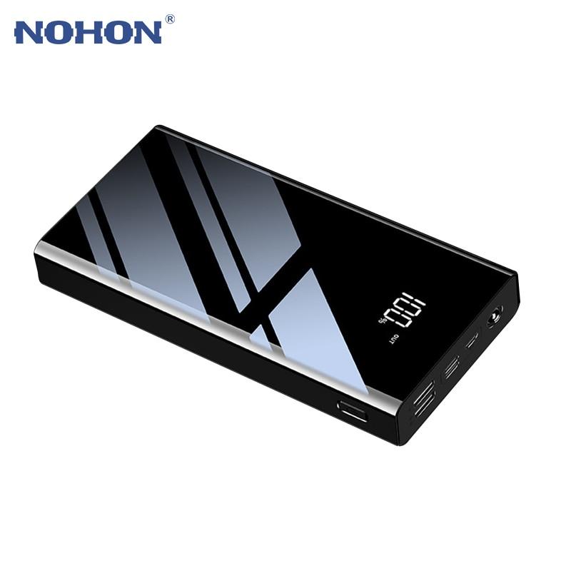 Cep telefonları ve Telekomünikasyon Ürünleri'ten Taşınabil. Güç Kay.'de NOHON 30000mAh güç banka taşınabilir Powerbank harici pil iPhone XS için Samsung Xiaomi 2.1A hızlı şarj çift usb şarj title=