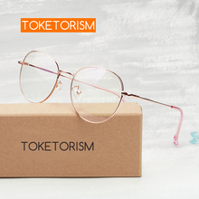 Toketorism vintage oval spectacle frames retro fashion eyeglasses frame prescription women 4413