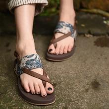 Artmu Mode Strand Slippers Outdoor Reizen Sandalen Flip F Snoeit Gesp Sandalen Schoenen Echt Leer Sandalias Vintage