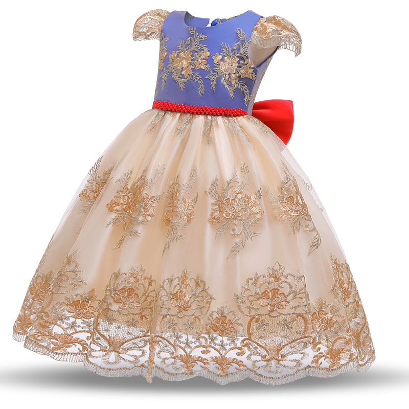 3-10 Year Fancy Baby Girls Dress New Year Party Evening Gowns Elegant Princess Dress Ball Gowns Wedding Kids Dresses For Girls