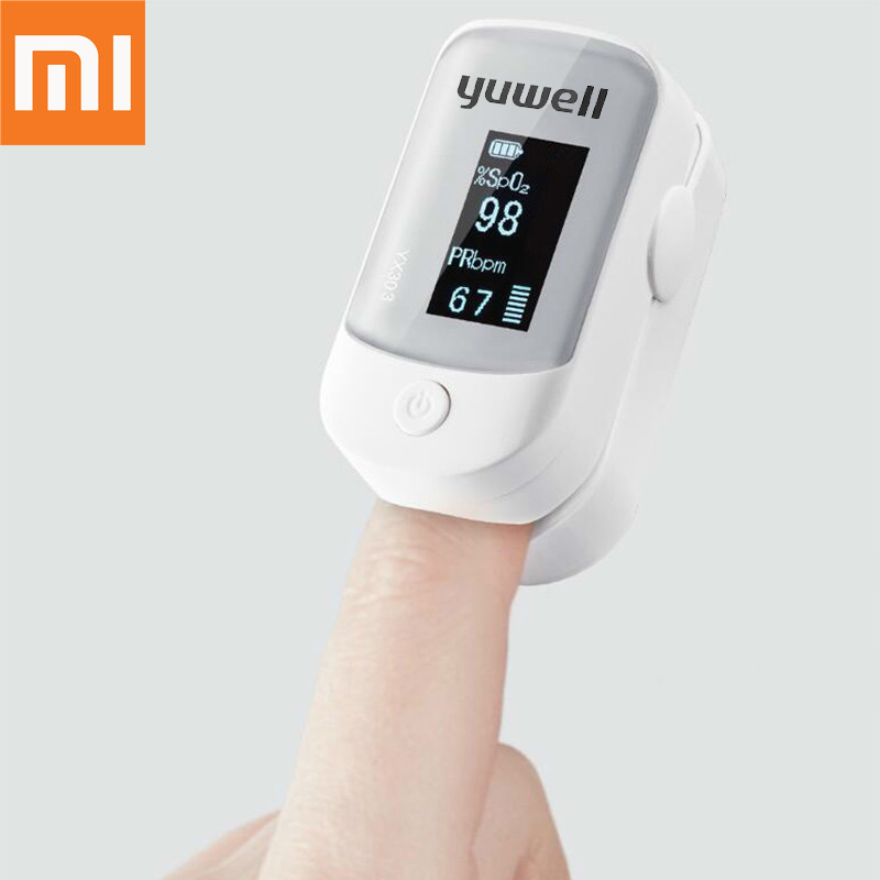 Original Xiaomi Yuwell Oximeter OLED Screen Digital Fingertip Pulse Care High-speed Sensor Auto Power Off Health For Family