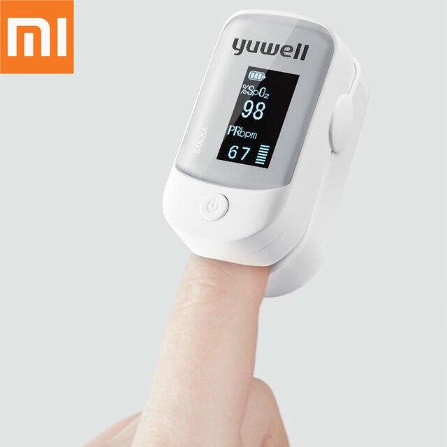 Original xiaomi Yuwell Oximeter OLED 스크린 디지털 핑거 팁 펄스 케어 고속 센서 자동 전원 끄기 건강