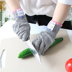 Image 5 - Hot Sales Cut Resistant Gloves GMG Grey Black HPPE EN388 Level 5 Work Safety Gloves Food Grade for Kitchen