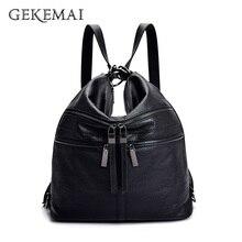 Designer Women Backpack Multifunction Leather School Bag For