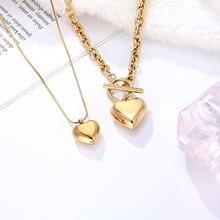 Романтическое ожерелье чокер из нержавеющей стали с подвеской