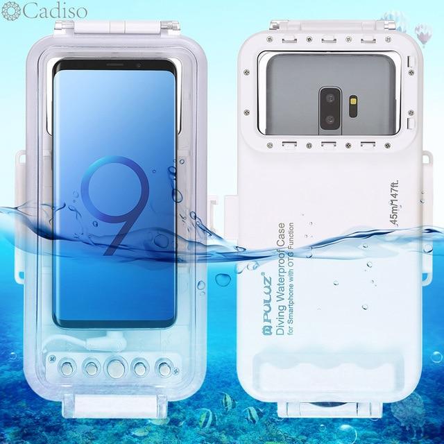 Cadiso 45 m/147ft caisson étanche de plongée logement Photo vidéo prenant la couverture sous marine pour Galaxy Huawei Xiaomi avec Port type c