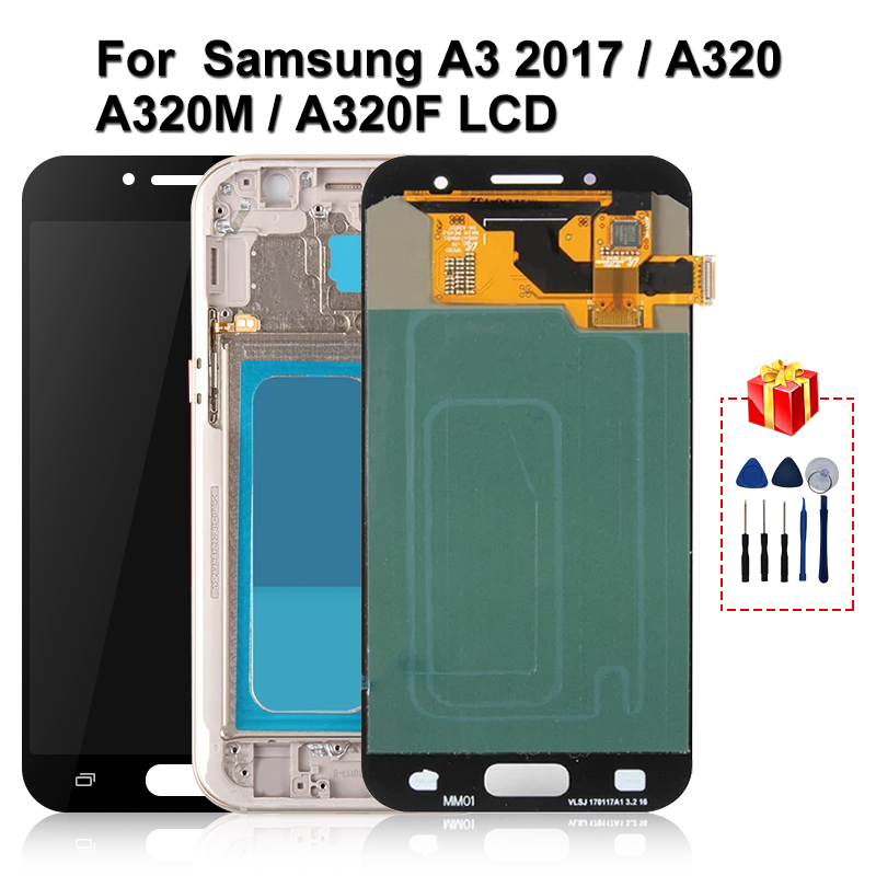 Original For Samsung Galaxy A3 2017 <font><b>A320</b></font> <font><b>LCD</b></font> Touch Screen Digitizer Display A320M A320F Replacement Parts image
