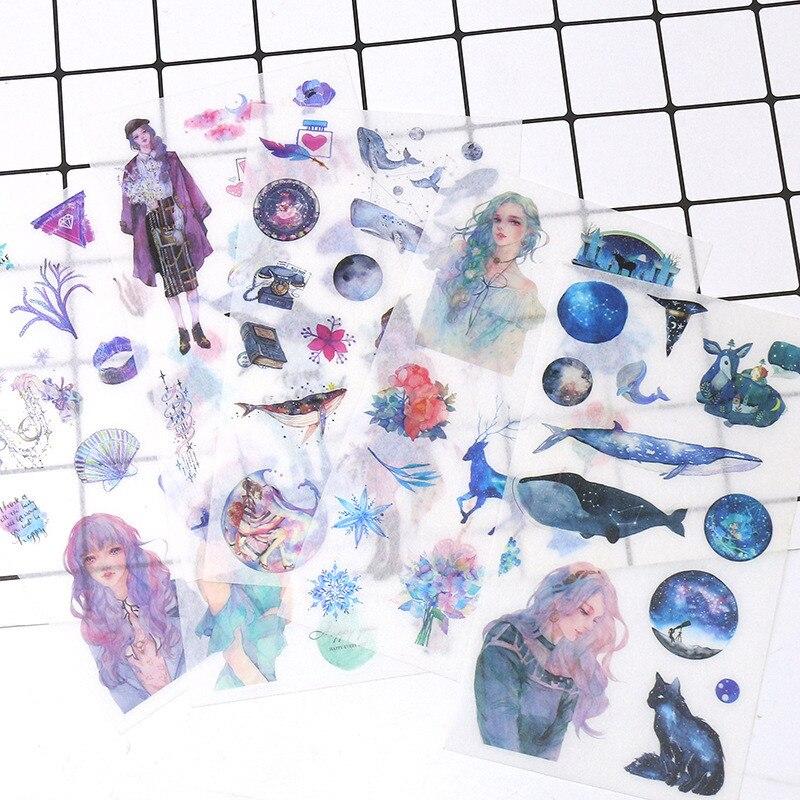 Kpop Stickers Pack Cartoon Anime Star Girls Creative Space Diary Hand Account Materials DIY Fridge Mobile Skateboard Decoration