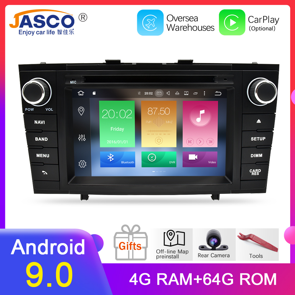 Android 9.0 Car DVD Stereo Multimedia Headunit For.<font><b>Toyota</b></font> <font><b>T27</b></font> Avensis 2009-2014 Auto PC Radio GPS Navigation Video Audio 4G RAM image