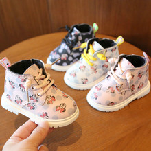 Winter Girls Cotton Shoes Baby Snow Boots Baby Shoes Winter Plus Velvet Baby Girls Children Cotton Shoes Martin Boots