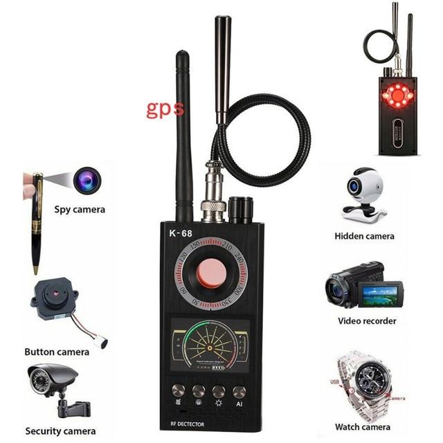 K68 Wireless RF finder Anti - Spy Mini Camera Detector bug locator Radio Scanner Hidden tracker audio privacy Security Scanner 2