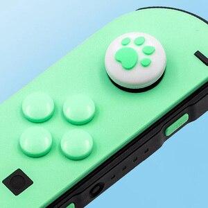 Image 3 - אגודל מקל אחיזת כובע ג ויסטיק כפתור מגן כיסוי עבור Nintendo מתג שמחה קון NS לייט בקר ABXY מפתח מדבקה עור מקרה