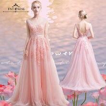 In Stock Bride Dresses Burgundy PearlPink Lace A Line Long Evening Dresses Elegant Wedding Evening Party Dress Vestido de festa