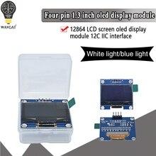 1.3 inch oled IIC Serial White Blue OLED Display Module 128X64 I2C SSD1306 12864 LCD Screen Board VDD GND SCK SDA for Arduino