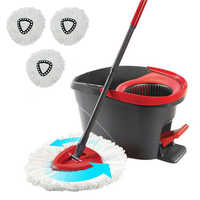 3PCS Replacement Heads Easy Clean Mopping Wring Spin Mop Refill Mop Microfiber