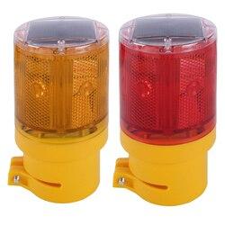 Zasilany energią słoneczną światła awaryjne led sygnalizator optyczny bezprzewodowa lampa ogrodowa migające światła drogowe migotanie lampy Beacon New Hot w Kontrolki od Lampy i oświetlenie na