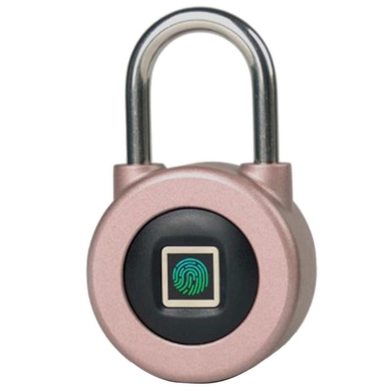 FFYY Smart Fingerprint Padlock Waterproof Smart App Bluetooth Electronic Lock Outdoor Luggage Cabinet Padlock|Electric Lock| |  - title=