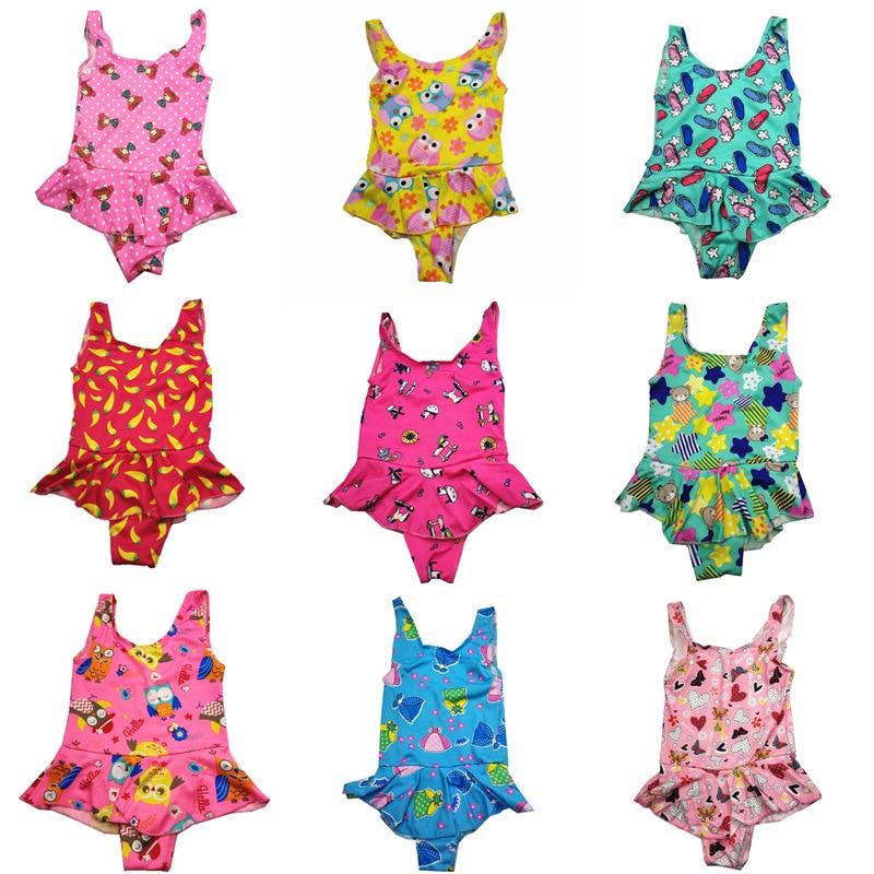 CHILDREN'S Swimwear Women's Small Girls Triangular One-piece Skirt Kids Swimwear 0 To 5-Year-Old Bathing Suit Cute Baby Swimwear