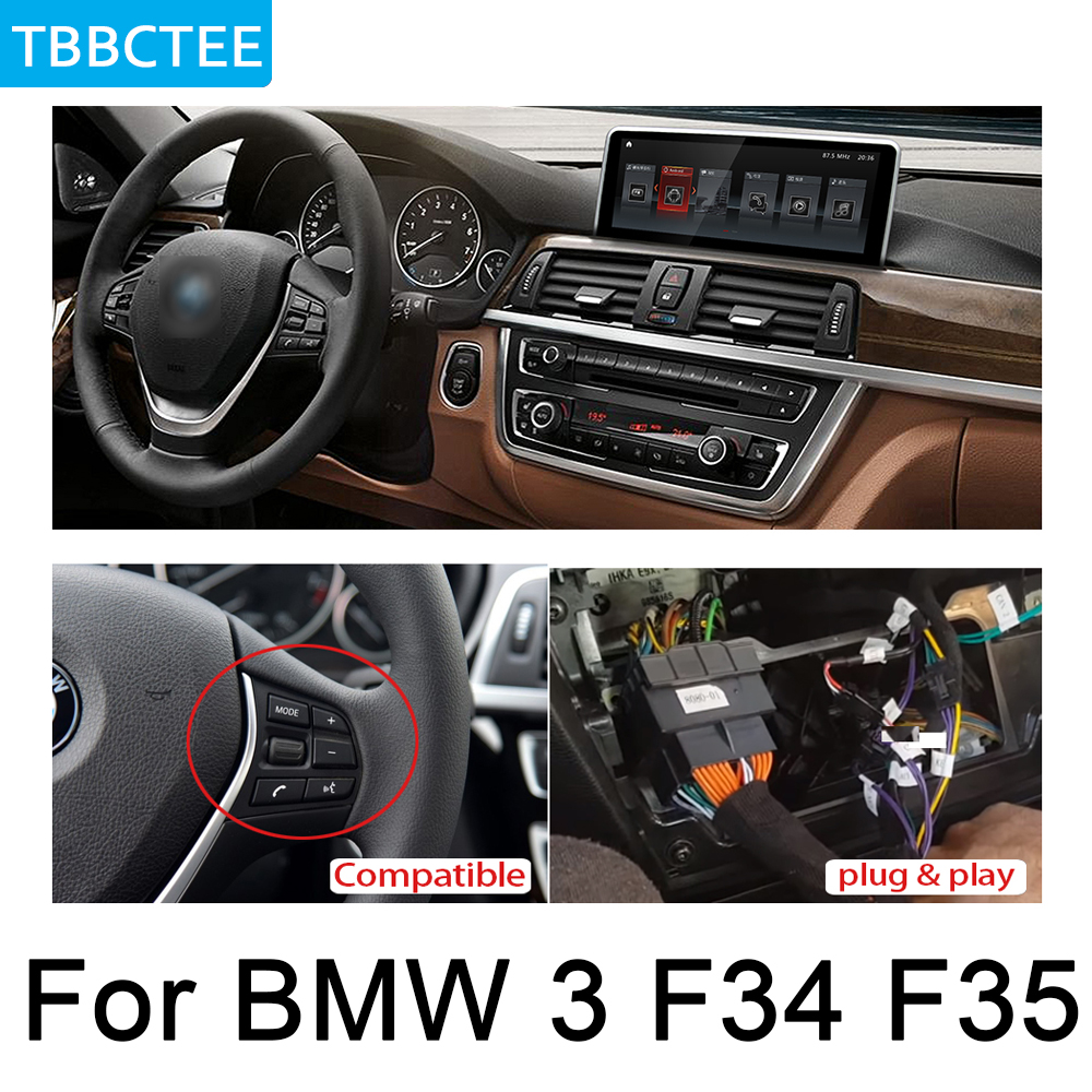 For BMW 3 Series F34 F35 2013 2016 NBT Car Audio Android GPS Navigation WiFi 3G 4G Multimedia player Bluetooth 1080P in Car Multimedia Player from Automobiles Motorcycles
