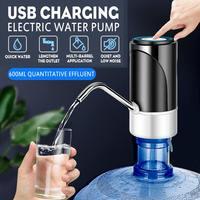 Dispensador de agua portátil, bomba de agua eléctrica, inteligente, táctil, con carga USB, botón para botella de agua, silencioso, para el hogar y la Oficina