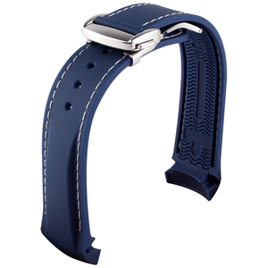 Image 5 - Curved End 20mm 22mm 19mm 21mm Rubber Silicone Watch Bands For Omega Watch AT150 MasterSea 007 for Seiko Strap Brand Watchband
